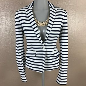 Jones New York Signature Petite Striped Blazer